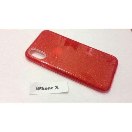 Красный Силиконовый чехол для iPhone X infinity
