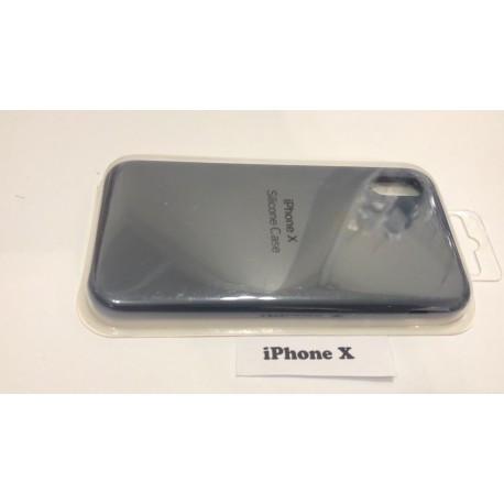 Силиконовый чехол для iPhone X синий infinity