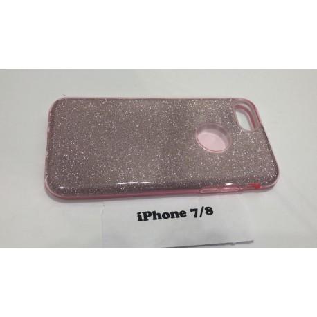 Силиконовый чехол для iPhone 7/8 розовый infinity