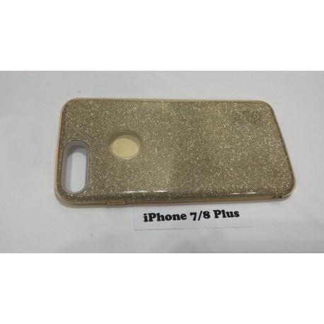 Силиконовый чехол для iPhone 7+/8+ золотой infinity