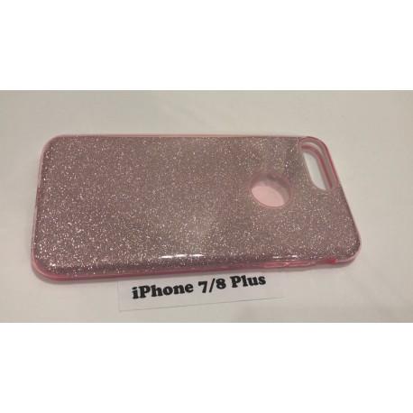Силиконовый чехол для iPhone 7+/8+ розовый infinity