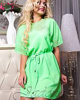 Женская туника-платье | Афина с ажуром