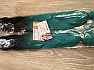 🖤 💙Канекалон омбре чёрный-бирюза, пряди для впелетения в волосы, разнообразные волосы 🖤💙, фото 4