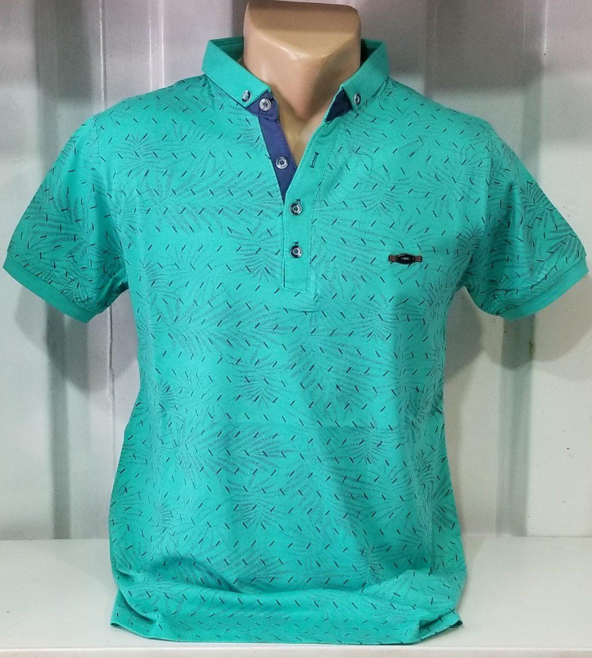 efbc9ba8bb41186 Мужская футболка поло с рисунком соты зеленая - Интернет-магазина