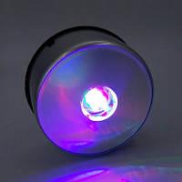 Серебряная подставка с LED лампочками infinity