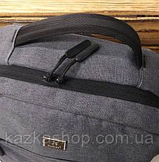 Спортивный, прогулочный прочный рюкзак под ноутбук из плотного непромокаемого материала, на 3 отдела, фото 3