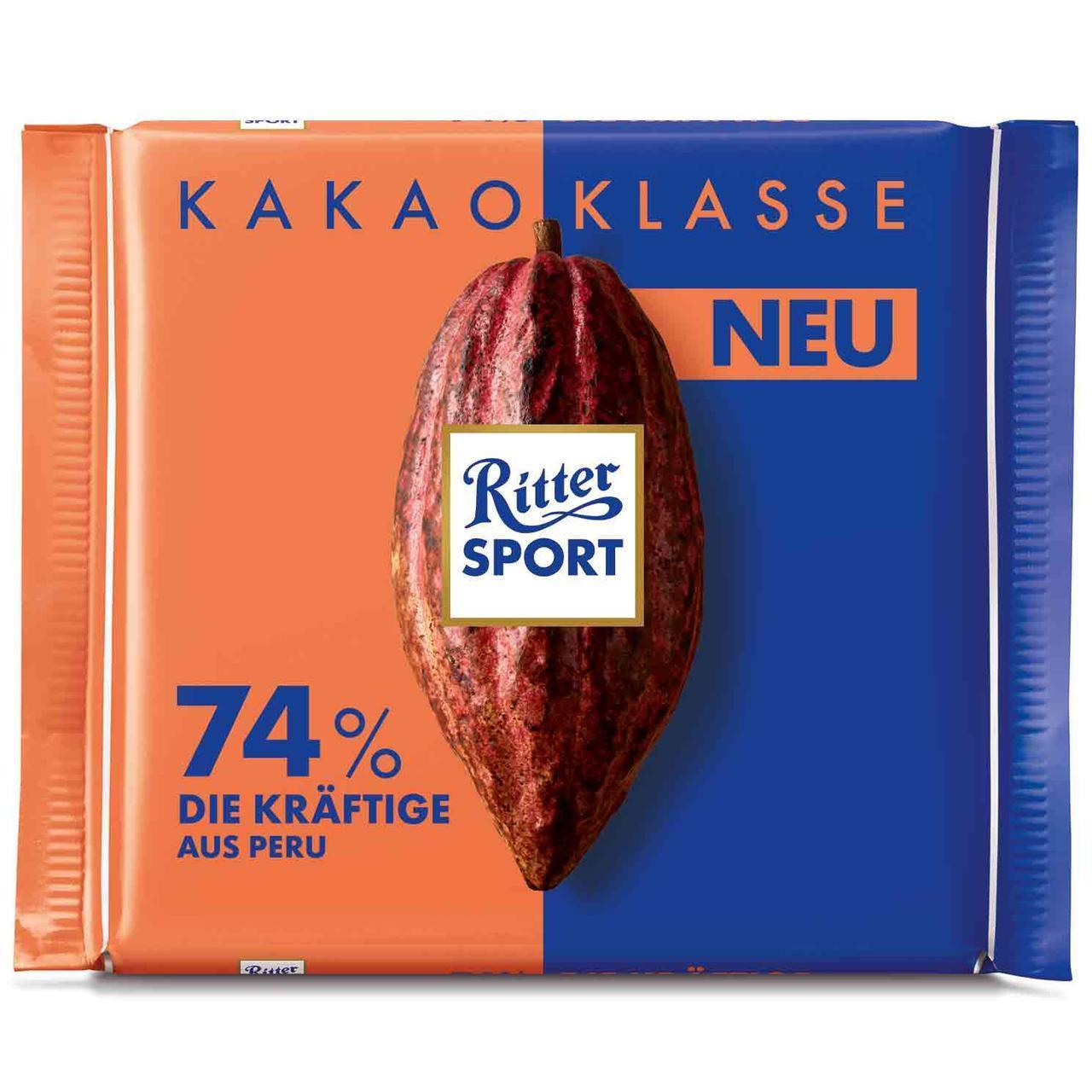 Шоколад Ritter Sport Kakao Klasse 74 %