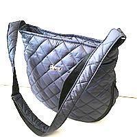 Женские стеганные сумки дешево опт до 100грн (синий)28*33см