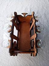 Мини-бар Телега с рюмками, фото 2