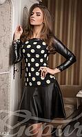 Повседневное короткое женское платье верх кукуруза с длинным рукавом , фото 1
