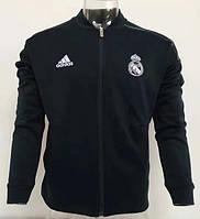 Футбольная мужская олимпийка Реал Мадрид 18/19 сезона, чёрная