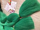 🖤💚Канекалон омбре чёрный-зелёный, пряди для впелетения в волосы, разнообразные волосы 🖤💚, фото 3