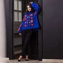 Пальто вышиванка с геометрическим орнаментом, фото 2