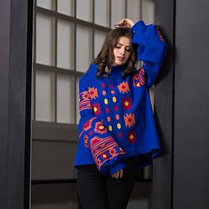 Пальто вышиванка с геометрическим орнаментом