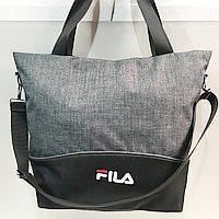 Сумки УНИВЕРСАЛЬНЫЕ для фитнеса Fila (серый+черный)35*45см