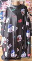 Пеньюар для стрижки, черные карты