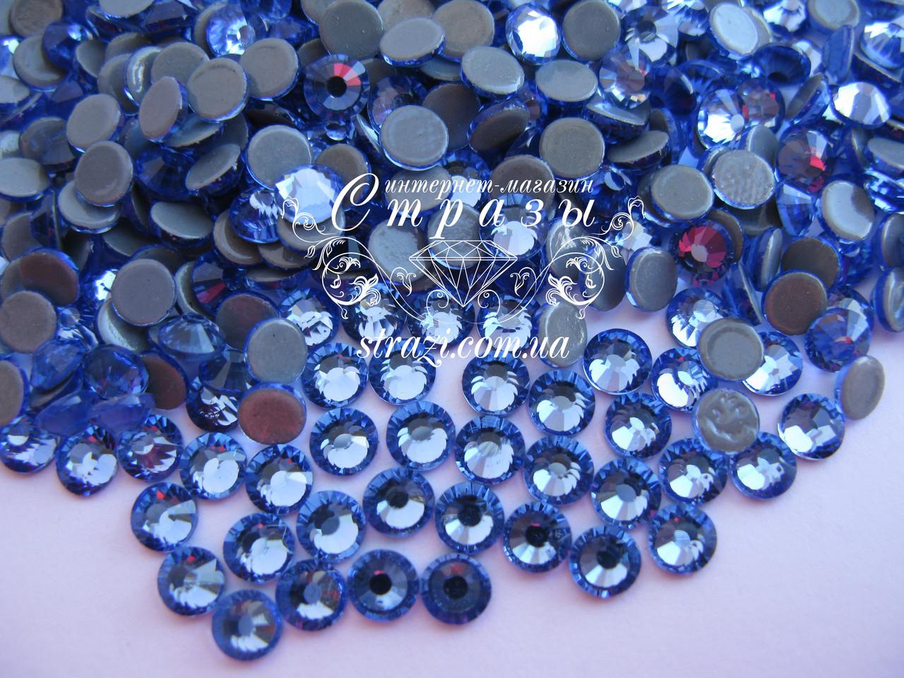 Термо стразы Lux ss16 Lt.Sapphire (4.0mm) 1440шт