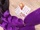 🖤💜Омбре канекалаон чёрный-фиолет для брейд, кос, причёсок, вплетение в волосы 🖤💜, фото 5