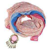 Шарф женский Жакоб с  кольцом для шарфа(платка)