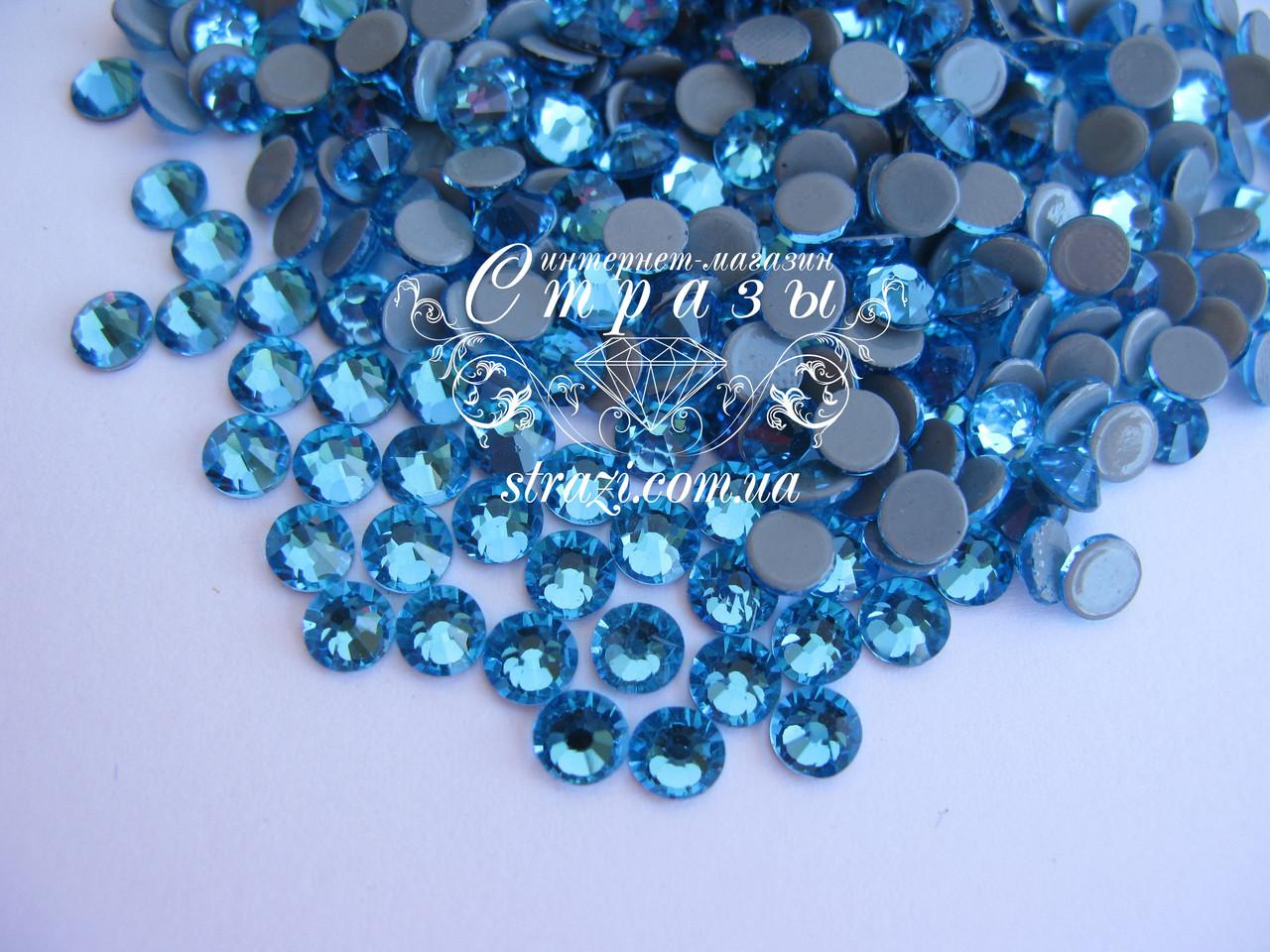 Термо стразы Lux ss16 Aquamarine (4.0mm) 100шт