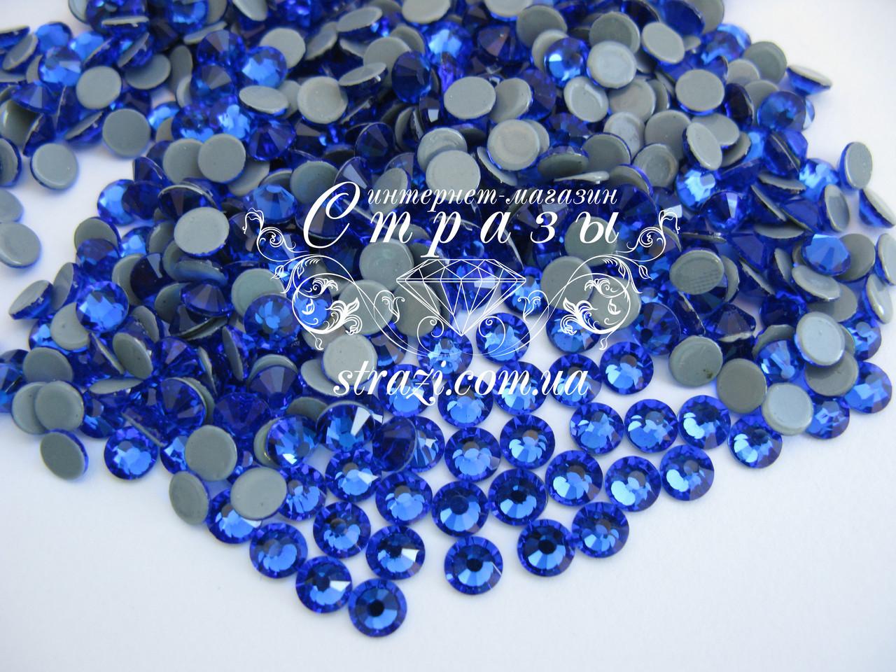 Термо стразы Lux ss16 Sapphire (4.0mm) 100шт