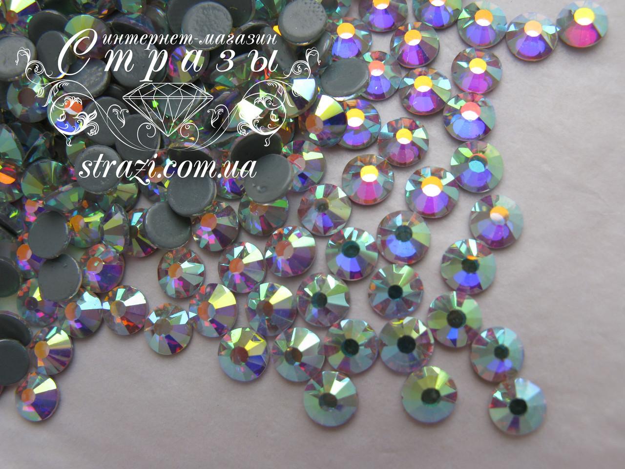 Термо стразы Lux ss16 Crystal AB (4.0mm) 100шт