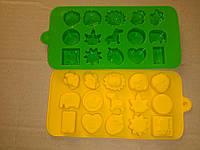 Силиконовая форма молд  для конфет звери львенок 2Д