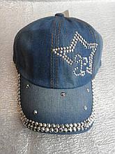 Кепка джинсовая звезда