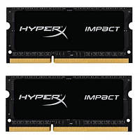 Оперативна пам'ять Kingston 16 GB (2x8GB) SO-DIMM DDR3L 1866 MHz HyperX Impact (HX318LS11IBK2/16) (HX318LS11IBK2/16)