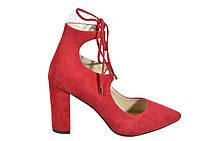 Шикарные красные туфли женские Asttaly на каблуке