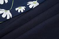 Ткань креп дайвинг темно синий, фото 1