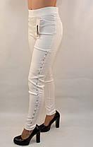 Джинсы женские стрейч с жемчужинами по наружному шву S - XXL, фото 2