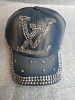 Кепка джинсовая с камнями