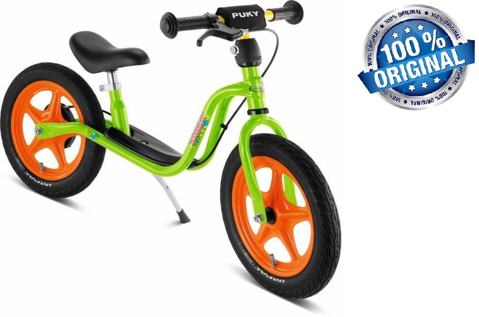 Беговел велобег детский PUKY LR 1 L Br с ручным тормозом (Германия), салатовый/оранжевый(kiwi/orange)