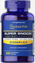 Супер сон с Мелатонином, Super Snooze with Melatonin, Puritan's Pride, 100 капсул