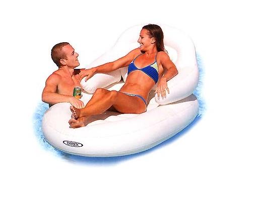 Intex 58862 пляжное надувное кресло (184Х117 см.)