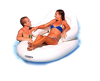 Intex 58862 (184Х117 см.) пляжное надувное кресло