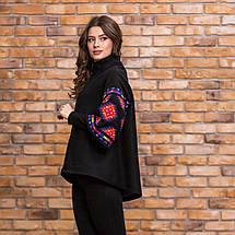 Пальто кашемир с цветной вышивкой, фото 3