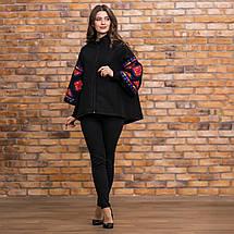 Пальто кашемир с цветной вышивкой, фото 2