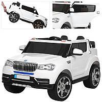 Детский двухместный электромобиль джип, M 3107 EBLR-1 белый