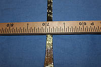 2 см.черная с золотом. лента на трикотажной основе не стрейч №3001, фото 1