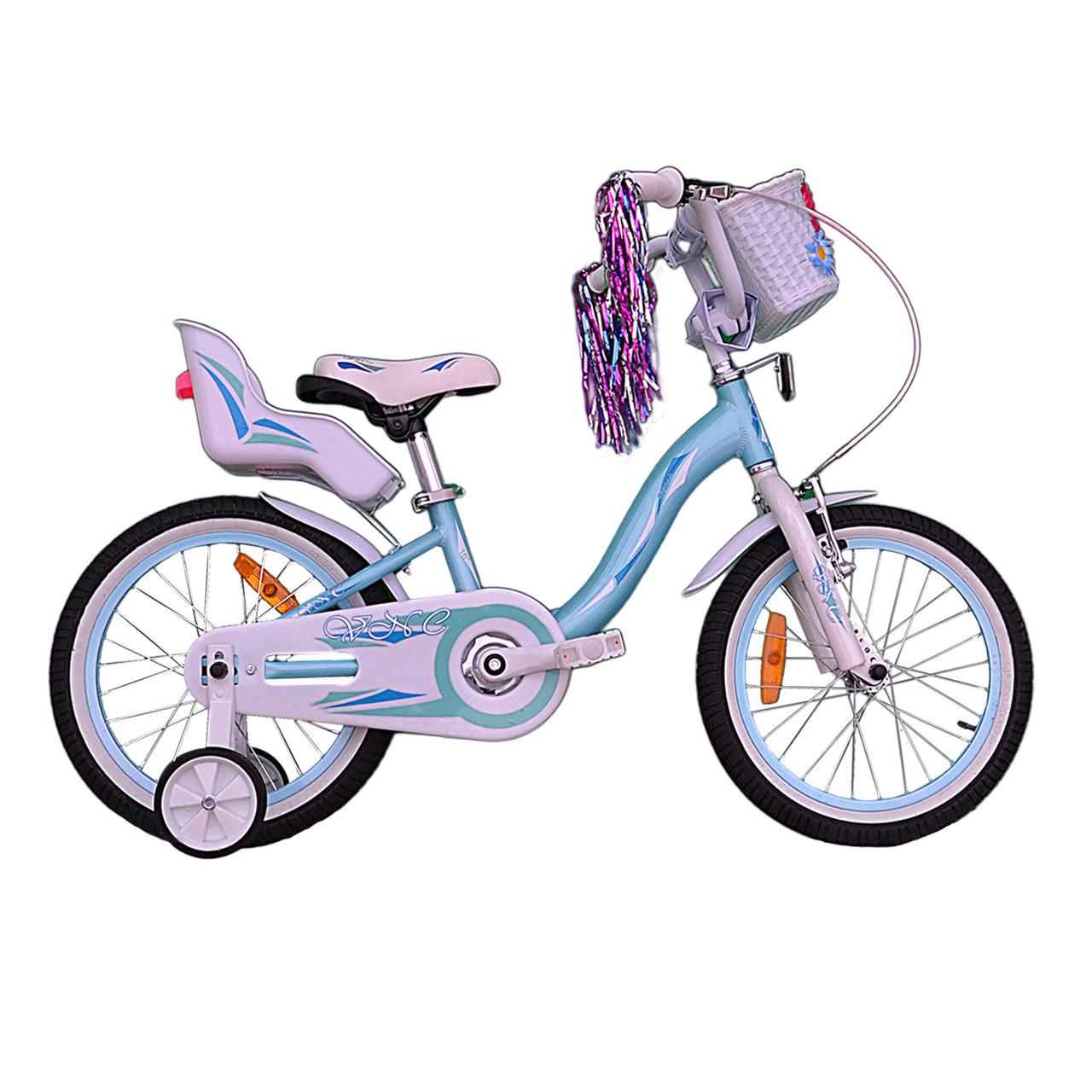 """Велосипед VNC 16"""" Miss, 1619-FA, Синий / Белый 8.5"""""""