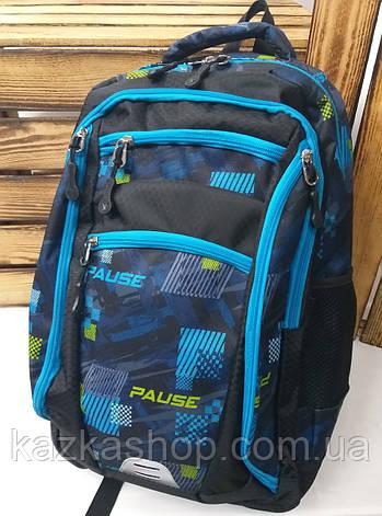 Школьный прочный рюкзак из плотного непромокаемого материала, на 6 отделов, унисекс, фото 2