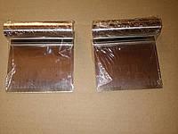 Скребок кондитерский  нержавейка шпатель 10*10 см с разметкой