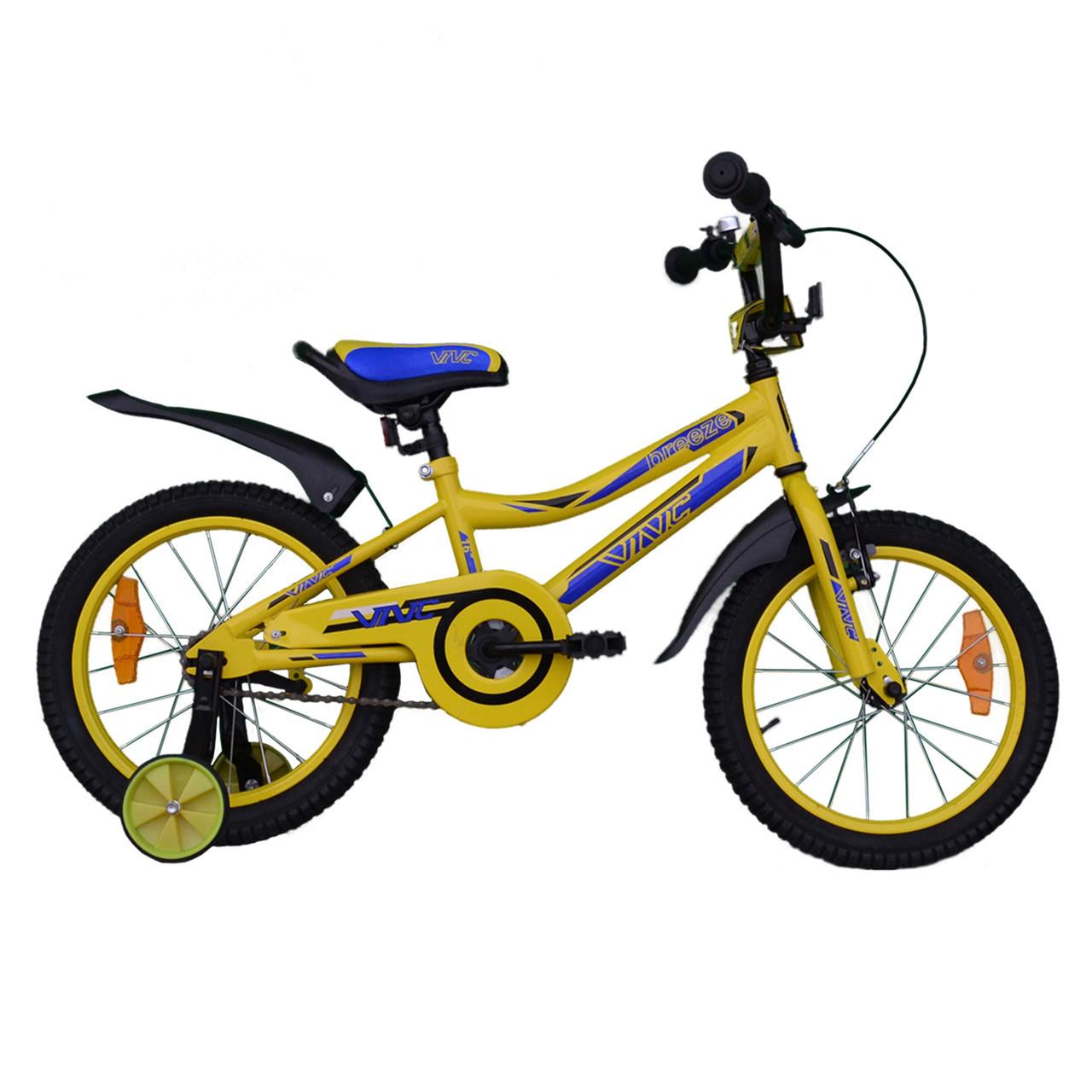 """Велосипед VNC 16"""" Breeze, 1617-GS, Желтый / Синий 8.5"""""""