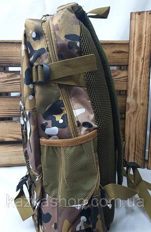 Спортивный прочный рюкзак под камуфляж с накатом в стиле Adidas (реплика) из плотного материала, на 2 отдела, фото 2