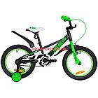 Детский велосипед Formula Jeep 16 дюймов черно-салатный, фото 2