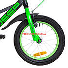 Детский велосипед Formula Jeep 16 дюймов черно-салатный, фото 4