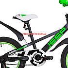 Детский велосипед Formula Jeep 16 дюймов черно-салатный, фото 5