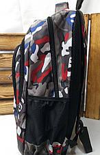 """Спортивный прочный рюкзак """"Пиксели"""" из плотного непромокаемого материала, на 4 отдела, фото 2"""